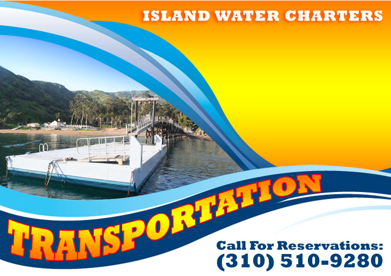 Private boat transportation around Catalina